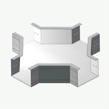 ZJT(F)2型铝合金无孔直角四通