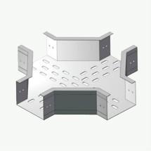 ZJT(F)1型铝合金有孔直角四通